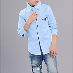 tanie Odzież dla chłopców-Dzieci Dla chłopców Solidne kolory Długi rękaw Koszula