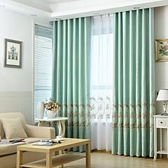 お買い得  窓回り-近代の カーテンドレープ 2パネル カーテン / ベッドルーム