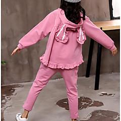 tanie Odzież dla dziewczynek-Dzieci Dla dziewczynek Prążki Długi rękaw Komplet odzieży