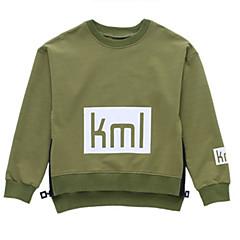 billige Hættetrøjer og sweatshirts til drenge-Børn Drenge Basale Geometrisk Langærmet Bomuld Hættetrøje og sweatshirt