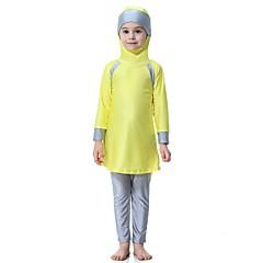 billige Badetøj til piger-Børn Pige Boheme Sport Farveblok Polyester / Nylon / Spandex Badetøj Rød 140