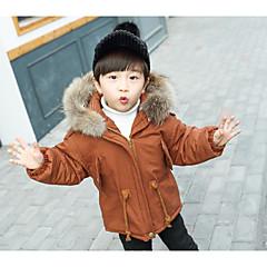 tanie Odzież dla chłopców-Dzieci Dla chłopców Solidne kolory Długi rękaw Odzież puchowa / pikowana