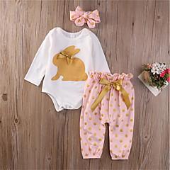billige Babytøj-Baby Pige Prikker Langærmet Tøjsæt