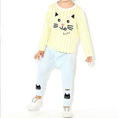 tanie Odzież dla dziewczynek-Brzdąc Dla dziewczynek Kreskówki Długi rękaw Komplet odzieży