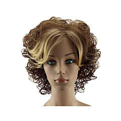 cheap Wigs & Hair Pieces-Synthetic Wig Women's Curly Blonde Middle Part Synthetic Hair 12 inch Normal / Soft / Heat Resistant Blonde Wig Short Capless Dark Brown / Golden Blonde hairjoy