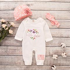 povoljno Odjeća za bebe-Dijete Djevojčice Aktivan / Osnovni Print Dugih rukava Pamuk / Poliester Jednodijelno Obala / Dijete koje je tek prohodalo