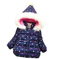billige Overtøj til babyer-Baby Pige Prikker Langærmet dun- og bomuldsforet