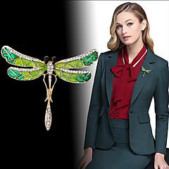 billige Motebrosjer-Dame Kubisk Zirkonium Vintage Stil Nåler - Dragonfly Personalisert, Unikt design, Koreansk Brosje Grønn Til Engasjement / Gave / Aftenselskap
