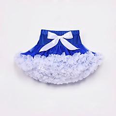 billige Pigenederdele-Børn / Baby Pige Blå & Hvid Farveblok Nederdel