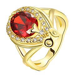billige Motering-Dame Rød Rubin Klassisk Ring - 18K Gull Dråpe Mote 7 / 8 Gull / Rose Gull Til Fest Daglig