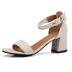 7523e79e Mujer Zapatos Confort Ante Verano Sandalias Tacón Cuadrado Negro / Beige /  Rosa