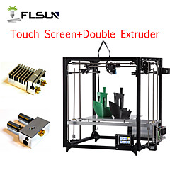 tanie Drukarki 3D-Flsun-f5 diy zestaw drukarki 3d duży rozmiar druku 260 * 260 * 350mm podwójny extruder ekran dotykowy wifi wsparcie auto level podgrzewane łóżko