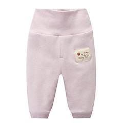 billige Babytøj-baby piger aktive sportsfarvede bomuldsbukser