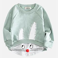 billige Hættetrøjer og sweatshirts til babyer-Baby Pige Trykt mønster Langærmet Hættetrøje og sweatshirt
