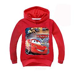billige Hættetrøjer og sweatshirts til piger-Børn Drenge Aktiv Geometrisk Langærmet Normal Polyester Hættetrøje og sweatshirt Rød 140