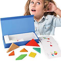 baratos -Quebra-Cabeças de Madeira Teste padrão geométrico Legal Requintado De madeira 1 pcs Crianças Todos Brinquedos Dom