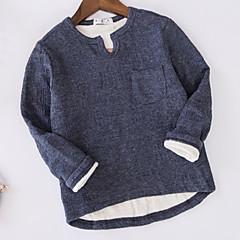 billige Overdele til drenge-Baby Drenge Ensfarvet Langærmet T-shirt