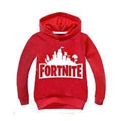 billige Hættetrøjer og sweatshirts til piger-Børn Drenge Basale Trykt mønster Langærmet Hættetrøje og sweatshirt