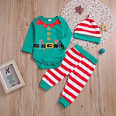 billige Babytøj-Baby Pige Stribet / Trykt mønster Langærmet Tøjsæt