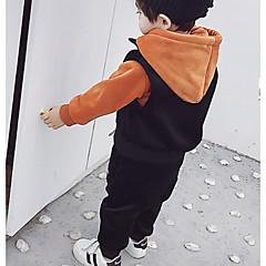 tanie Odzież dla chłopców-Dzieci Dla chłopców Podstawowy Codzienny Solidne kolory Długi rękaw Regularny Regularny Bawełna / Poliester Komplet odzieży Pomarańczowy 100