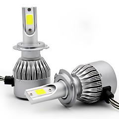billige Frontlykter til bil-2pcs h1 h3 h7 h8 h9 h11 bil lyspærer 36w cob 3800lm 2 led strålampe