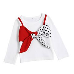 billige Hættetrøjer og sweatshirts til babyer-Baby Pige Basale Ensfarvet Langærmet Akryl / Polyester Hættetrøje og sweatshirt Hvid