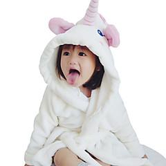 billige Undertøj og sokker til drenge-5 Dele Børn / Baby Drenge Aktiv / Basale Daglig Ensfarvet Blondér Langærmet Lang Normal Rayon / Modal Nattøj Hvid 130