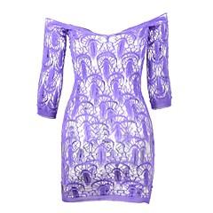 billige Moteundertøy-Dame Skjorter og kjoler Nattøy - Geometrisk, Blonde / Netting
