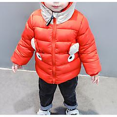 billige Babytøj-Baby Pige Ensfarvet Langærmet dun- og bomuldsforet