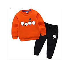 billige Tøjsæt til drenge-Børn Drenge Ensfarvet Langærmet Tøjsæt