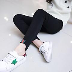 baratos Roupas de Meninas-Infantil Para Meninas Sólido Jeans