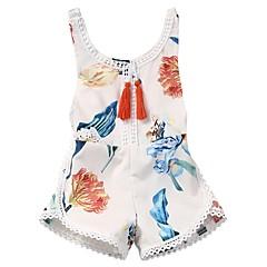 billige Babytøj-Baby Pige Blomstret Uden ærmer Bodysuit