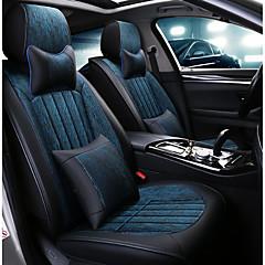 billige Setetrekk til bilen-ODEER Setetrekk til bilen nakkestøtter / Midjeputer / Setetrekk Svart / Blå tekstil / PU Leather Vanlig Til Universell Alle år Alle Modeller