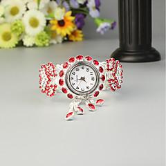 billiga Klockor-FEIS Dam Armbandsklocka Quartz Kronograf Legering Band Analog-digital Mode Silver - Röd