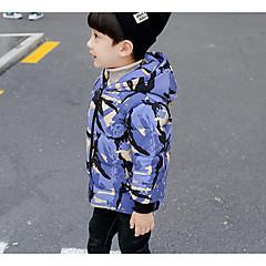 tanie Odzież dla chłopców-Dzieci Dla chłopców Podstawowy Codzienny Solidne kolory Długi rękaw Regularny Bawełna / Poliester Odzież puchowa / pikowana Czarny 100