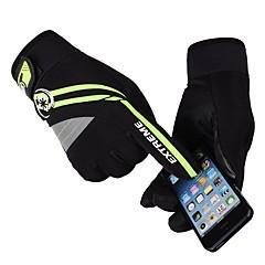 baratos Luvas de Motociclista-Dedo Total Homens Motos luvas Tecido de Seda Prova-de-Água / Manter Quente / Protecção