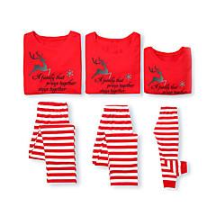 billige Sett med familieklær-Familie Look Grunnleggende Dyr Langermet T-skjorte