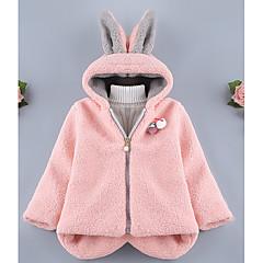 billige Jakker og frakker til piger-Baby Pige Farveblok Langærmet Jakke og frakke