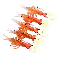 billiga Fiskbeten och flugor-5 pcs Fiskbete Mjukt bete Silikon Utomhus Kastfiske / Drag-fiske / Generellt fiske
