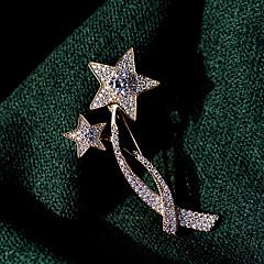 billige Motebrosjer-Herre Kubisk Zirkonium Klassisk Nåler - Gullbelagt Stjerne damer, Koreansk Brosje Smykker Gull Til Gate