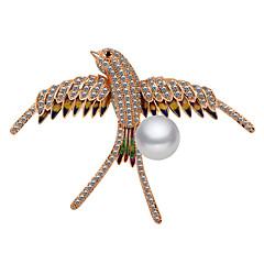 billige Motebrosjer-Dame Kubisk Zirkonium Klassisk Nåler - Rose gull, Perle Fugl damer, Tegneserie, Europeisk Brosje Smykker Gull Til Daglig