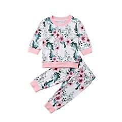 billige Tøjsæt til piger-Baby Pige Geometrisk Langærmet Tøjsæt