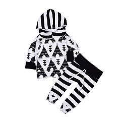 رخيصةأون ملابس الرضع-مجموعة ملابس كم طويل لون سادة للفتيات طفل
