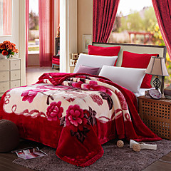 cheap Blankets & Throws-Coral fleece, Reactive Print Still Life / Classic Polyester / Polyamide Blankets