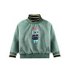 billige Hættetrøjer og sweatshirts til piger-Børn Pige Vintage Ensfarvet Langærmet Akryl / Polyester Hættetrøje og sweatshirt Blå 140