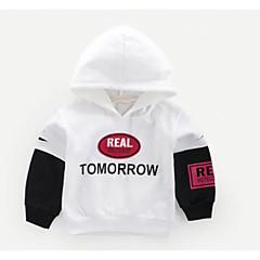 billige Hættetrøjer og sweatshirts til drenge-Baby Drenge Aktiv Daglig Geometrisk / Farveblok Langærmet Normal Polyester Hættetrøje og sweatshirt Hvid
