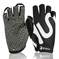 baratos Luvas de Motociclista-Meio dedo Unisexo Motos luvas Elastano Licra / Tecido de Rede Respirável / Anti-desgaste / Resistente ao Choque