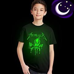 voordelige Jongenskleding-Kinderen Jongens Street chic Print Korte mouw Normaal Polyester T-shirt Zwart