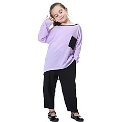 baratos Roupas de Meninos-Infantil Para Meninas Activo / Básico / Moda de Rua Diário / Esportes Sólido Poliéster Calças Azul Marinha