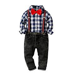 economico Abbigliamento per bambini-Bambino Da ragazzo Essenziale Con stampe Manica lunga Cotone Completo Royal Blue